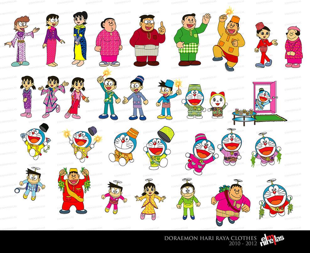 Doraemon Hari Raya Clothes 2012 by mietony on DeviantArt