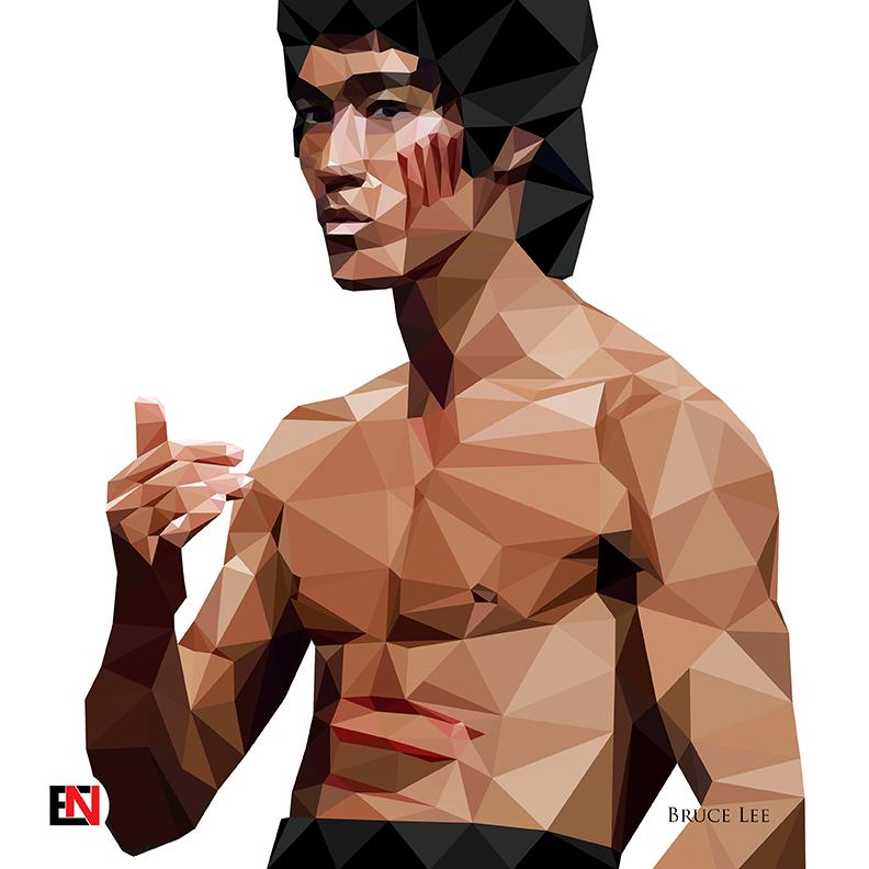 Low Polygon Portrait - Bruce Lee by mietony