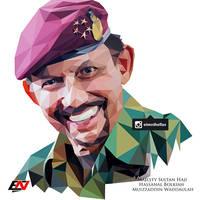 Low Polygon Portrait - Sultan Hassanal Bolkiah