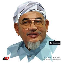 Low Polygon Portrait - TG DS Haji Abdul Hadi Awang