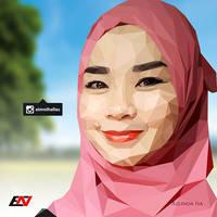 Low Polygon Portrait - Azlinda Isa