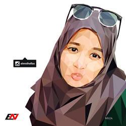 Low Polygon Portrait - Miza