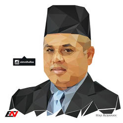 Low Polygon Portrait - Haji Rojahan