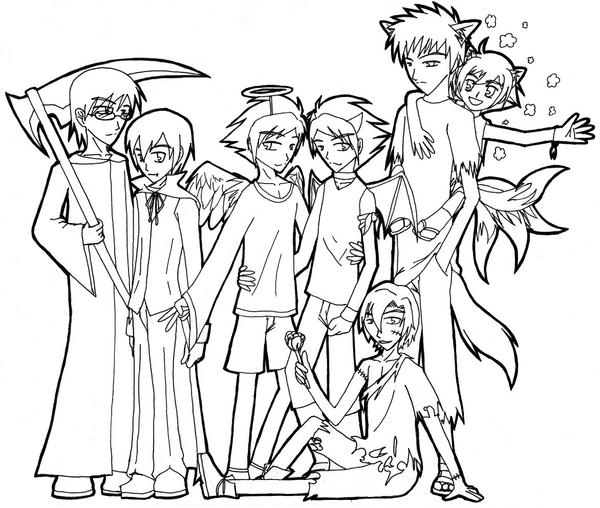 ouran highschool coloring pages - photo#13