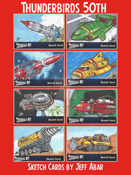 Thunderbirds 50th Anniversary Sketch Cards