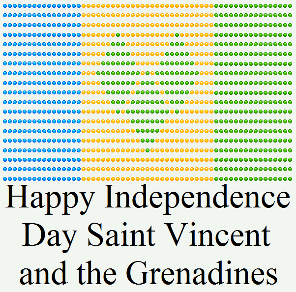 Happy Independence Day St Vincent and the Grena    by