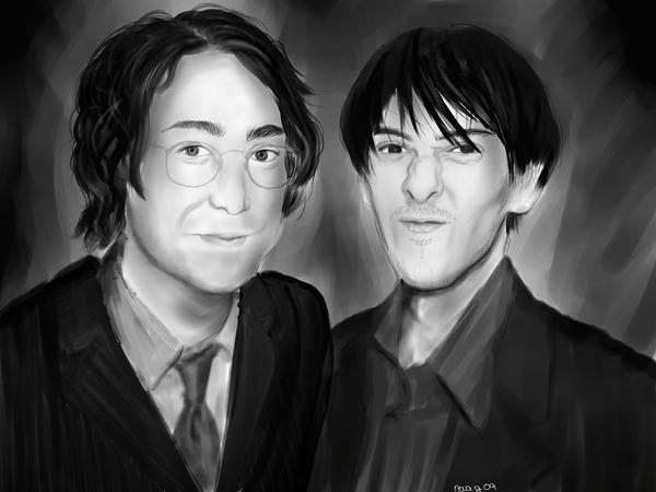 Sean Lennon and Dhani Harrison by neva-electra on DeviantArt
