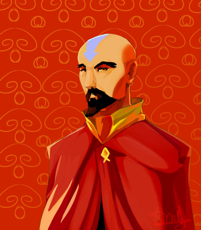 Avatar Cast Members: Tenzin On Legend-of-Korra