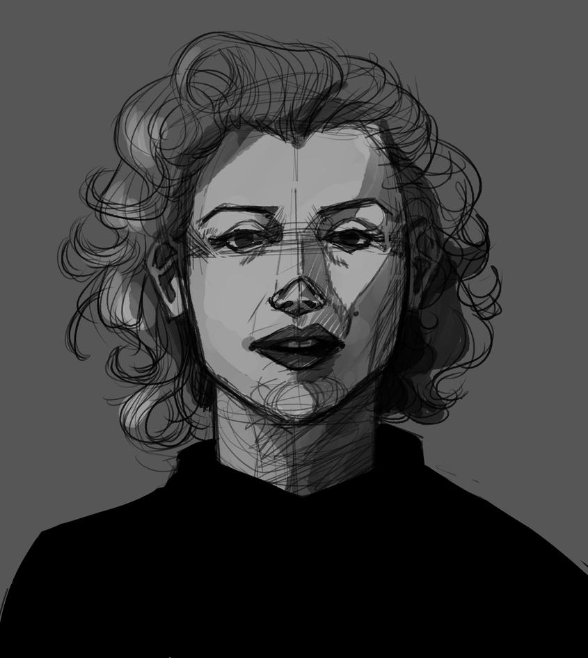 Marilyn Monroe Drawing ~ Amy by AliceandAmy