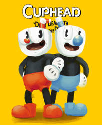 Cuphead and Mugman ~ Amy by AliceandAmy