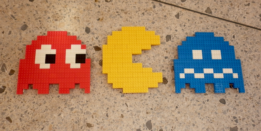 LEGO: Pac-man, Ghosts by Meufer on DeviantArt