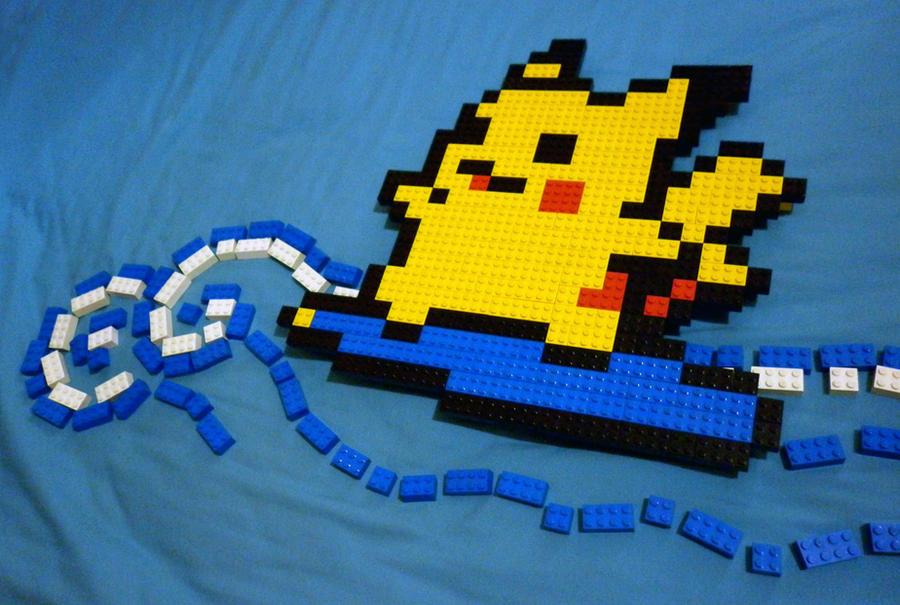 LEGO: Surfing Pikachu_1