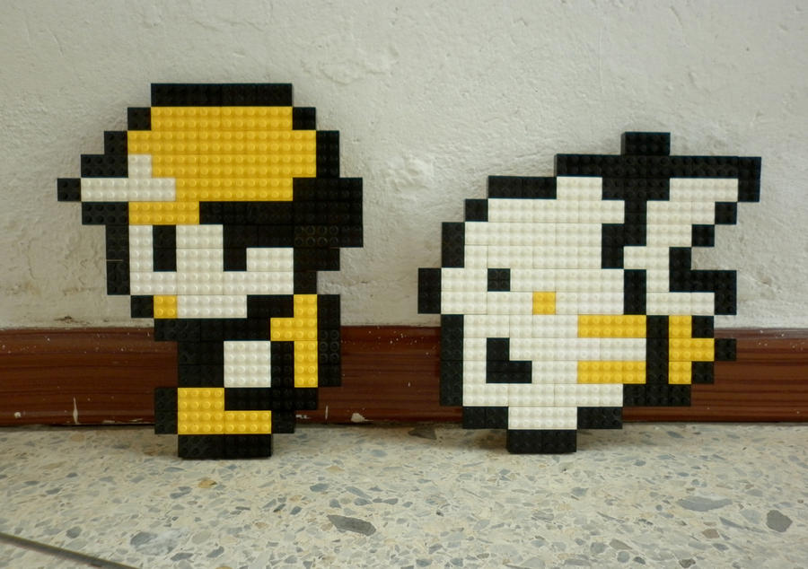 8bit Ash Ketchum and Pikachu Pokemon Hair Bow or bow tie