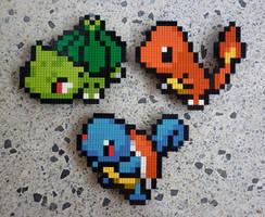 LEGO: Pokemon Starters Gen 1 by Meufer