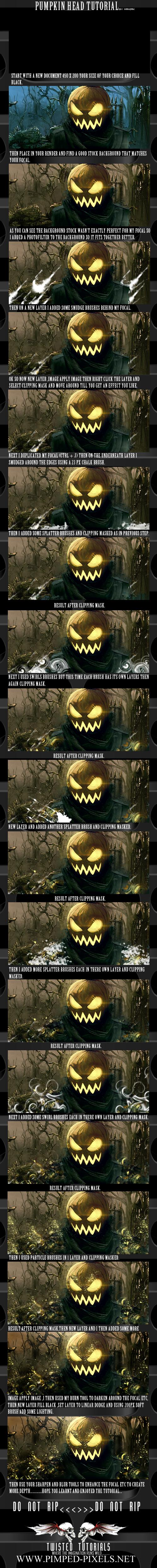 Pumpkin Head Tutorial by Maniakuk