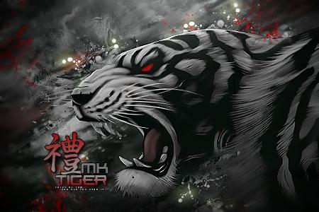 White tiger by Maniakuk