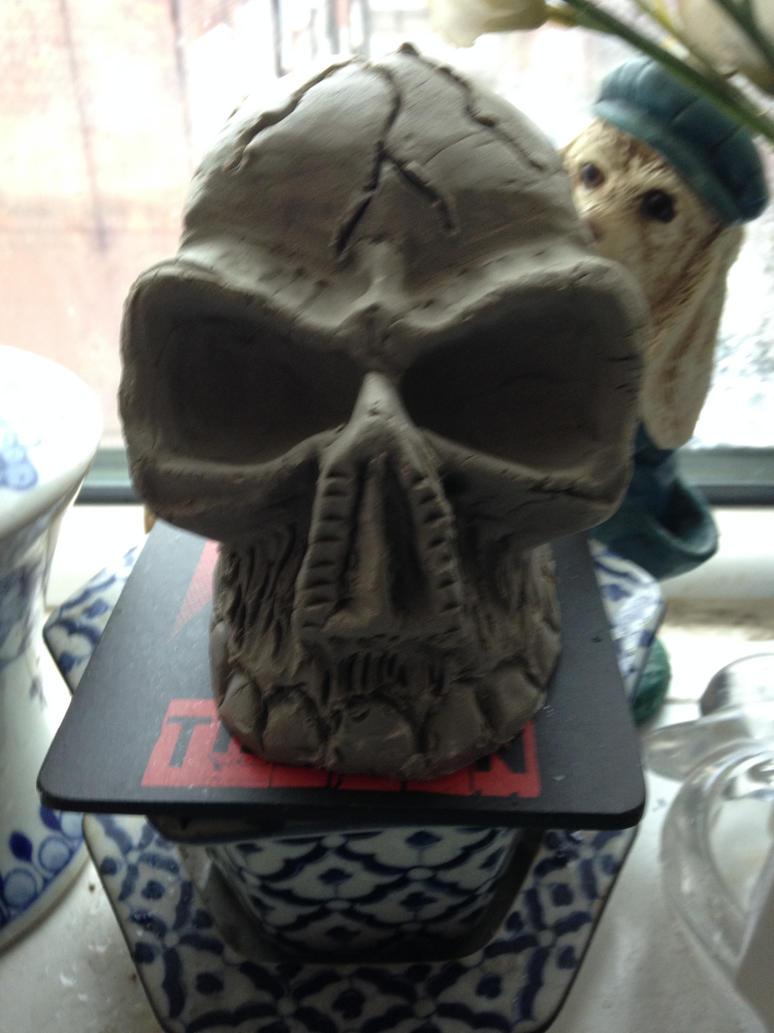 Clay Skull by Maniakuk