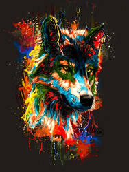 Colour Wolf by Maniakuk