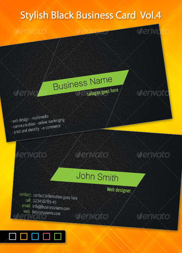 Stylish Black Business Card-4 by ~khatrijiya
