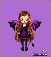 purple devil girl by lolohe