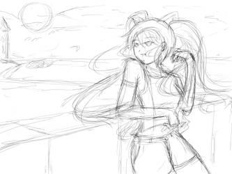 Miku Sketch by Lorekun
