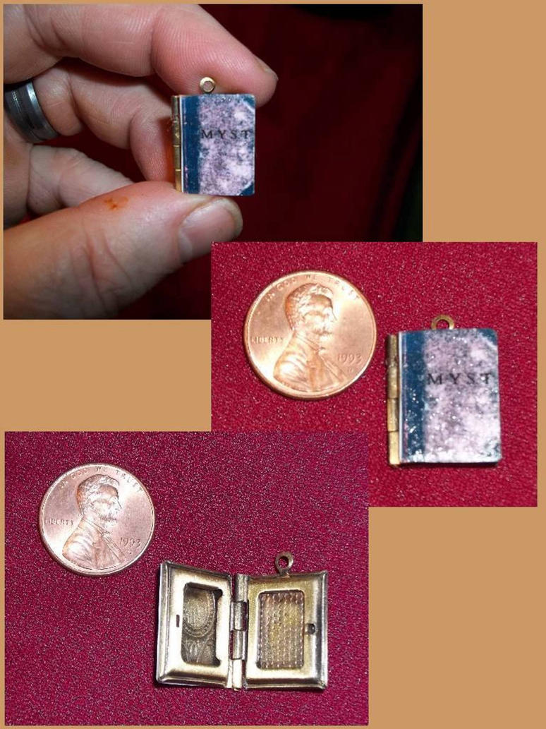 MYST book locket - Just a little linking... by Pirkleations