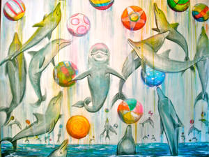 Dolphins at Play