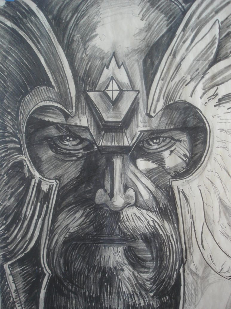 Viking god 1 study by wildatart24 on deviantart for Viking pencils