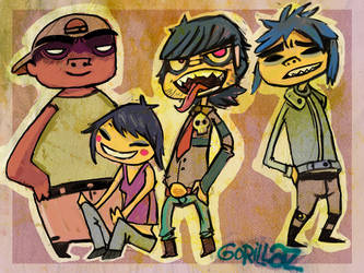 Gorillaz by L-MakesArt