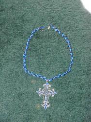 Blue cross neclace