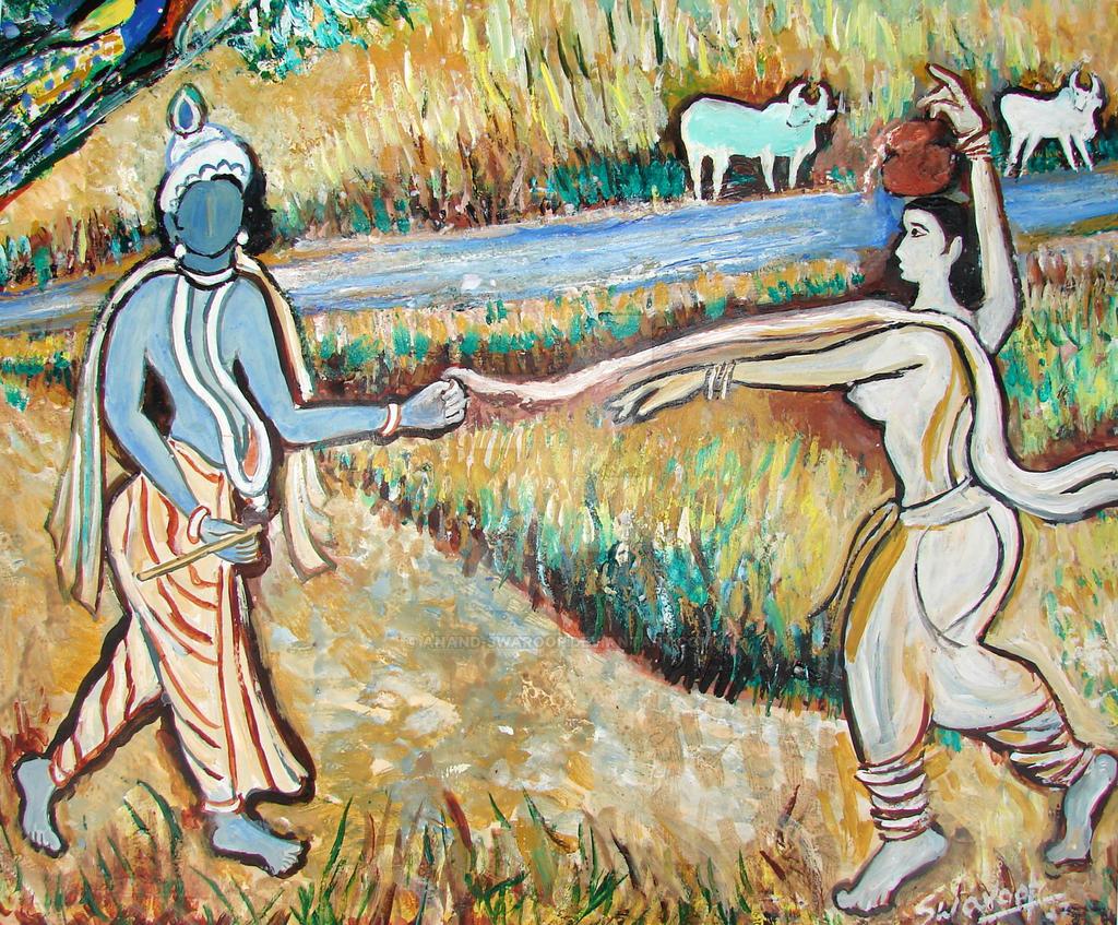 Radha Krishna In Romance 1 By Anand Swaroop On Deviantart
