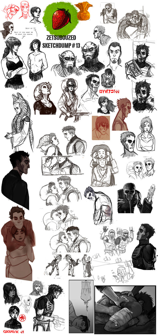 Sketchdump 13 by ZetsubouZed