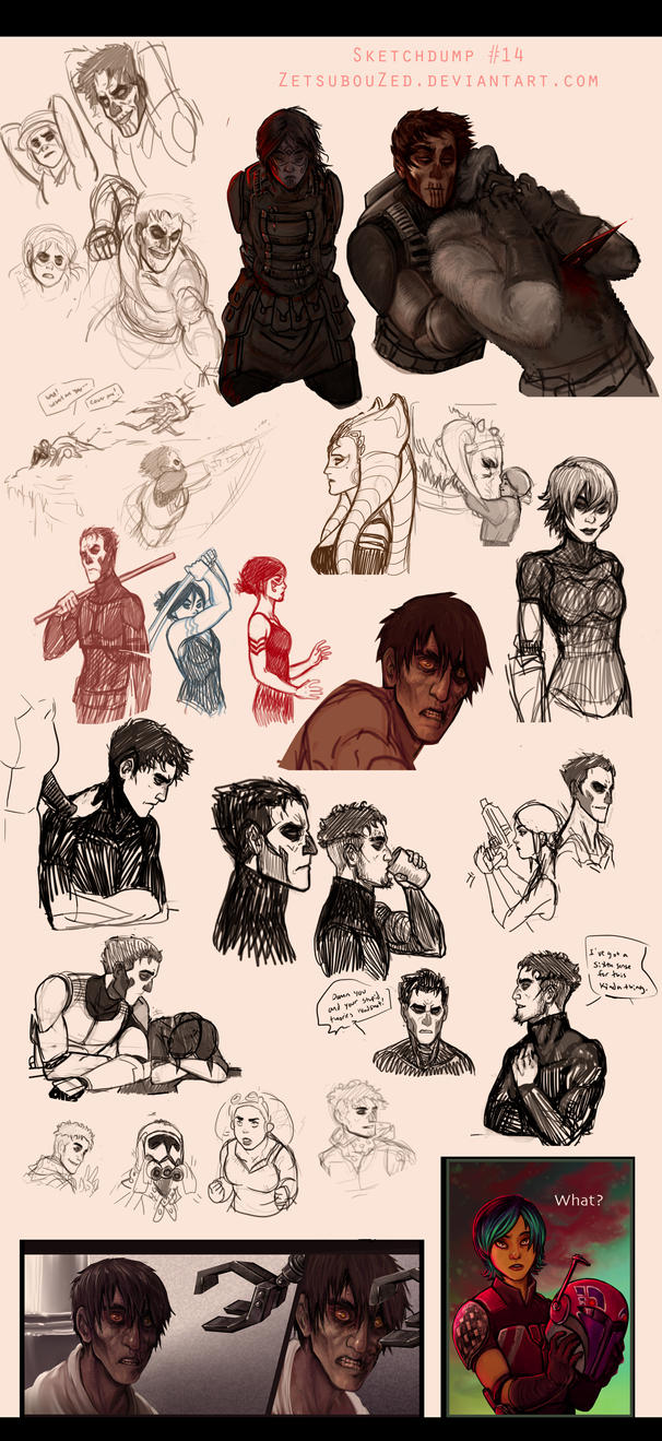Sketchdump 14 by ZetsubouZed
