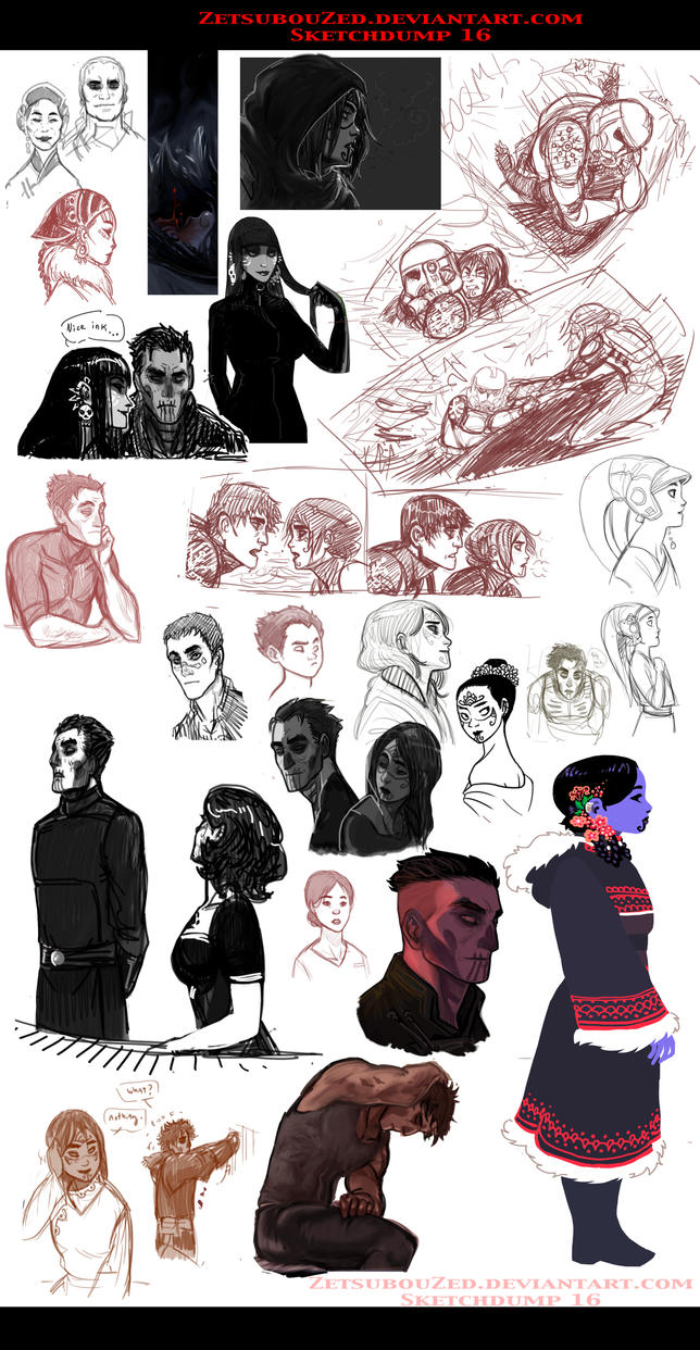Sketchdump 16 by ZetsubouZed