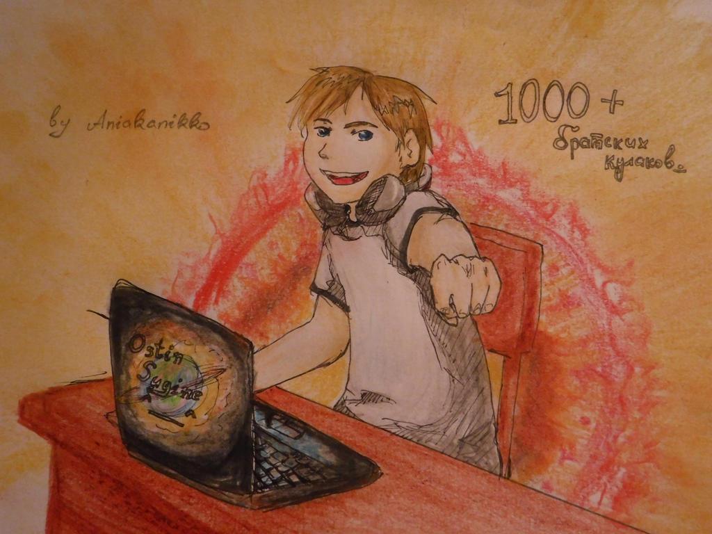 Happy 1000 Ostin! by AliceVoznesenskaya