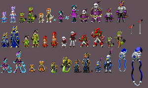 Freedom Planet 2 cast KOF style