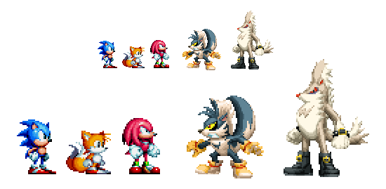 Sonic Mania mini art - Rough and Tumble by DOA687