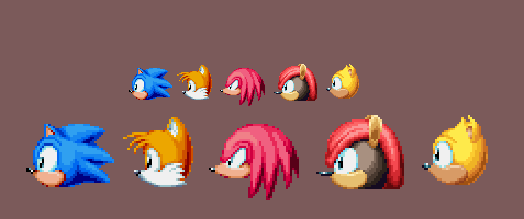Sonic Mania Plus Art - Mighty and Ray Heads 2 by DOA687