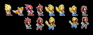 Sonic Mania Plus - Super Transformation ideas by DOA687