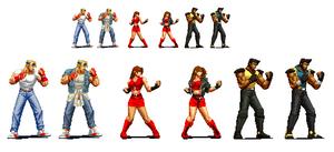 Streets of rage 4 KOF Pixel Art Versions