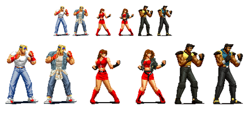 Streets of rage 4 KOF Pixel Art Versions by DOA687
