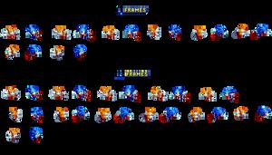 Sonic Custom Pole Animation Sprite Sheet