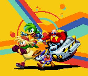 Sonic Mania Custom Fanart for Tyler McGrath Part 2 by DOA687