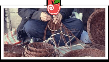 هنر سبد بافی – صنایع دستی