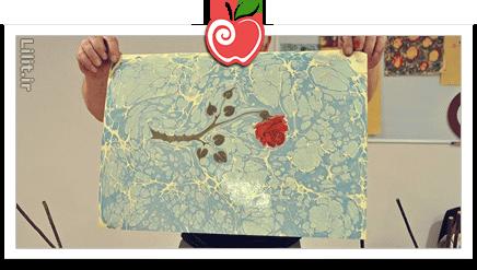 هنر کاغذ ابری (ابر و باد) – صنایع دستی