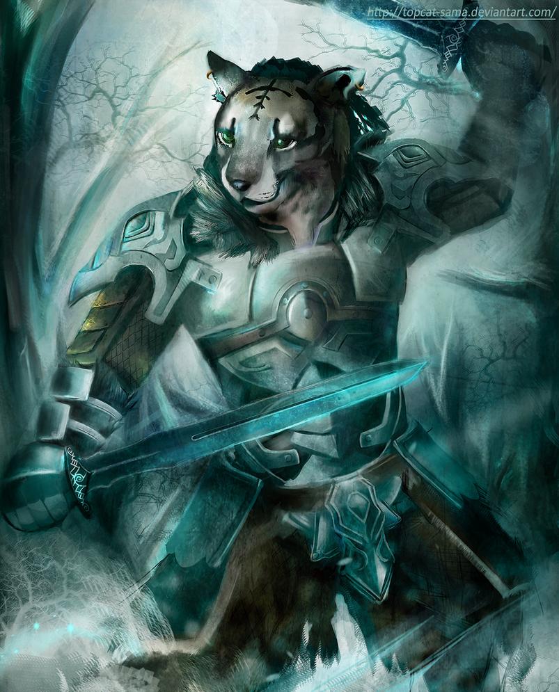 Skyrim-Battle in the snow by topcat-sama