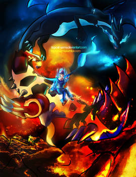 Groudon and Charizard X
