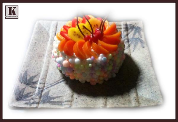 Bubble Fruit Cake by kuroso