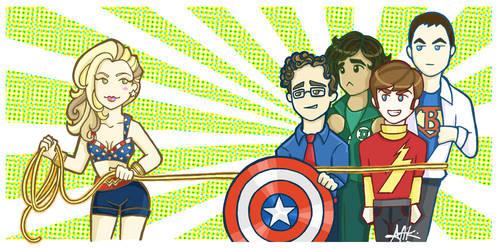 Big Bang Super Heroes by attkcherry