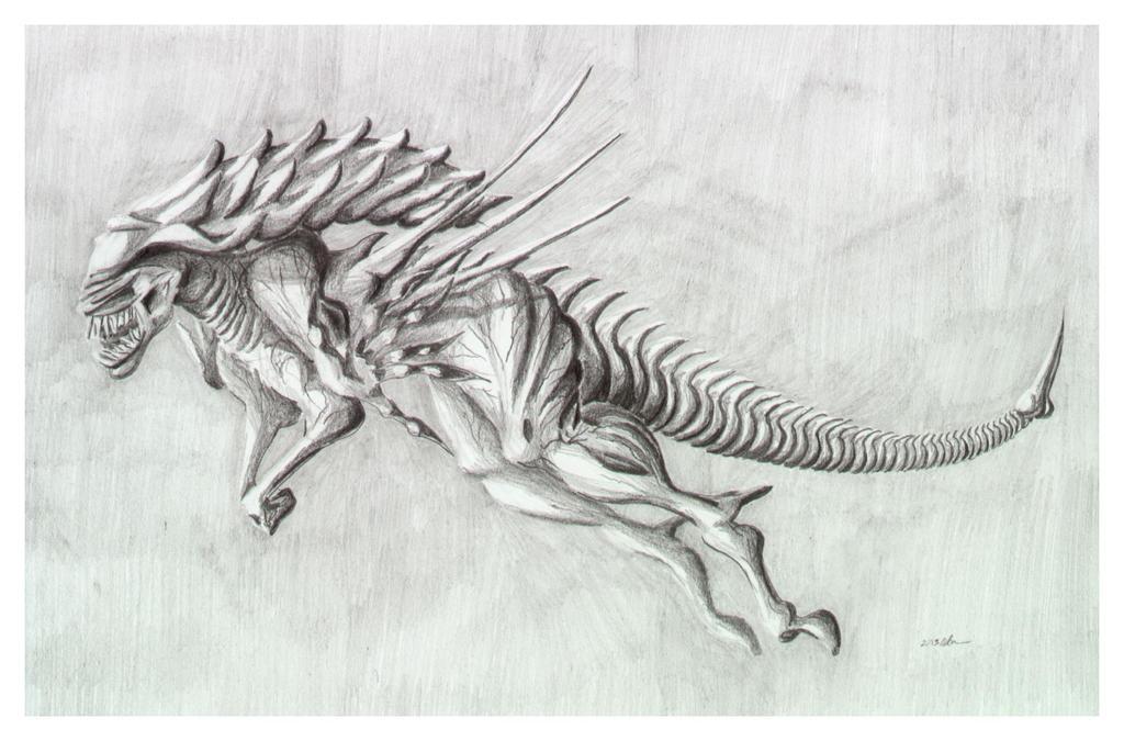 Xenomorph Queen by Akaszik